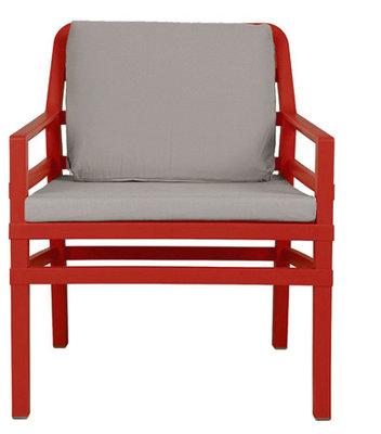 Nardi Aria Kunststof Loungestoel kleur: rood/grijs