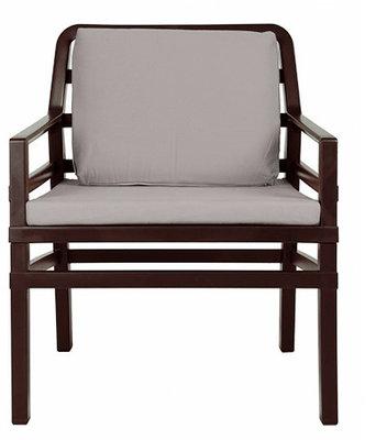 Nardi Aria Kunststof Loungestoel kleur: caffe/grijs