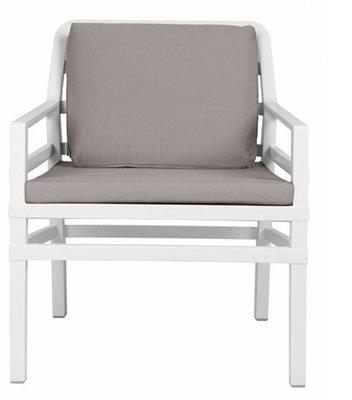 Nardi Aria Kunststof Loungestoel kleur: wit/grijs