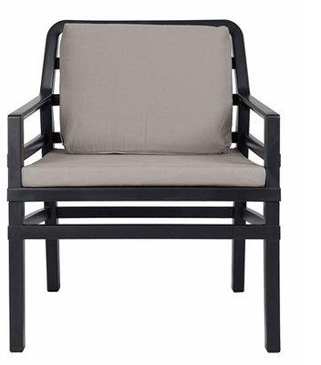 Nardi Aria Kunststof Loungestoel kleur: antraciet/grijs