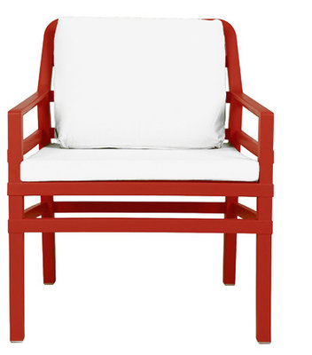 Nardi Aria Kunststof Loungestoel kleur: rood/wit