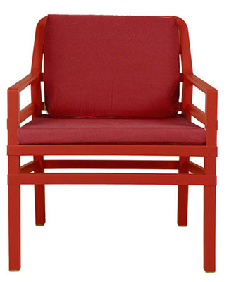 Nardi Aria Kunststof Loungestoel kleur: rood/rood