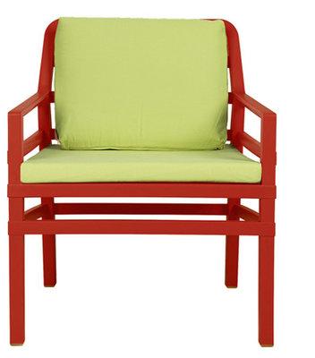 Nardi Aria Kunststof Loungestoel kleur: rood/lime