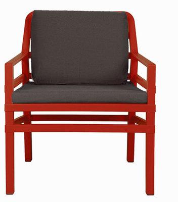 Nardi Aria Kunststof Loungestoel kleur: rood/caffe