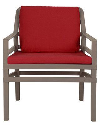 Nardi Aria Kunststof Loungestoel kleur: tortora/rood