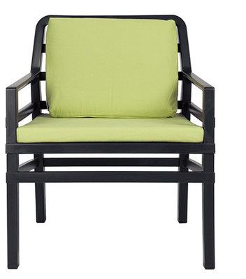 Nardi Aria Kunststof Loungestoel kleur: antraciet/lime