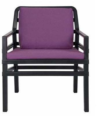 Nardi Aria Kunststof Loungestoel kleur: antraciet/paars