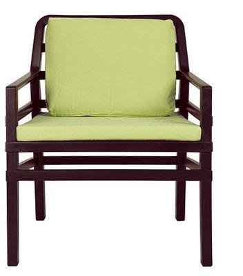 Nardi Aria Kunststof Loungestoel kleur: caffe/lime