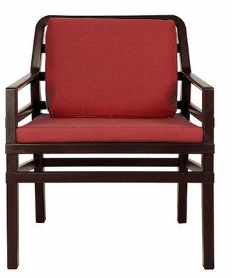 Nardi Aria Kunststof Loungestoel kleur: caffe/rood