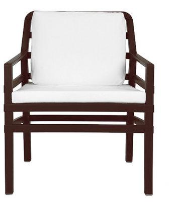Nardi Aria Kunststof Loungestoel kleur: caffe/wit