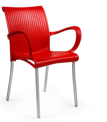 Dama kunststof stoel kleur: rood