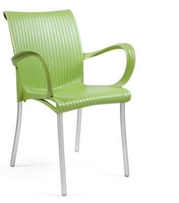 Dama kunststof stoel kleur: lime