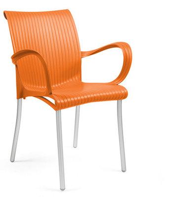 Dama kunststof stoel kleur: oranje
