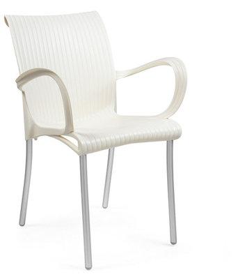 Dama kunststof stoel kleur: borro