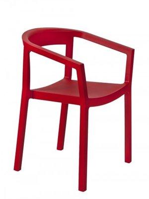 Peach kunststof stoel kleur: rood