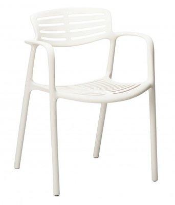 Toledo air kunststof stoel kleur: wit