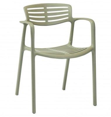 Toledo air kunststof stoel kleur: groen grijs