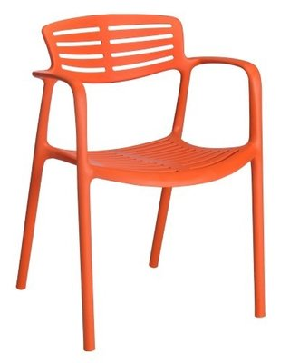 Toledo air kunststof stoel kleur: rood