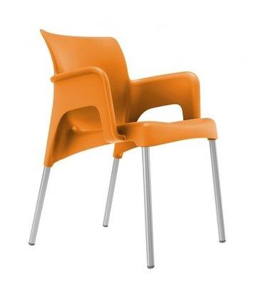 Sun Kunststof Terrasstoel van Resol kleur: oranje