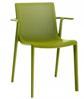 Resol Beekat kunststof armstoel kleur: olijf groen
