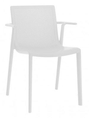 Resol Beekat kunststof armstoel kleur: wit
