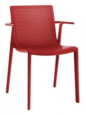 Resol Beekat kunststof armstoel kleur: rood