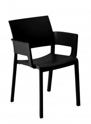 Fiona terrasstoel met armleggers van Resol kleur: zwart