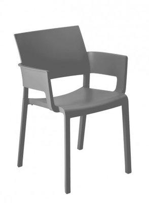 Fiona terrasstoel met armleggers van Resol kleur: donker grijs