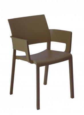 Fiona terrasstoel met armleggers van Resol kleur: chocolate