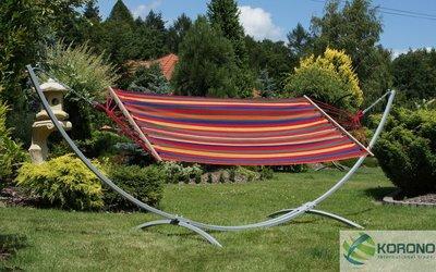 Hangmat standaard met hangmat max 150 kg oranje/rood