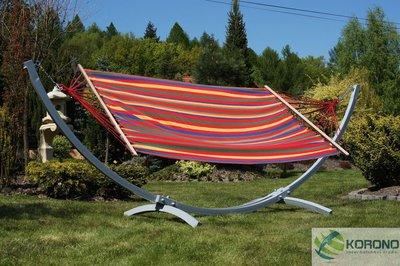 Hangmat standaard met hangmat max 250 kg oranje/rood