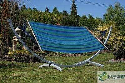 Hangmat standaard met hangmat max 250 kg groen/blauw