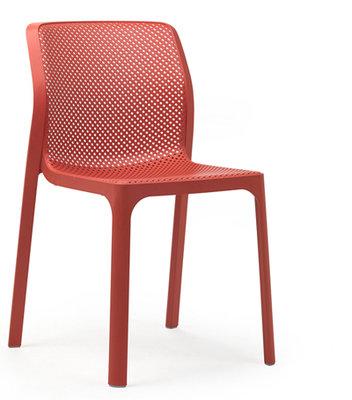 Nardi kunststof stoel Bit kleur: corallo