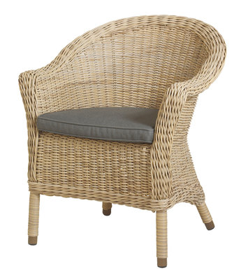 chester wicker tuinstoel pure