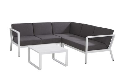 Domino loungeset kleur: wit