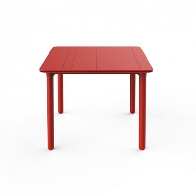 Resol Kunststof Tuintafel Noa 90x90 cm, kleur: rood