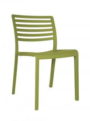 Lama Resol kunststof stoel kleur: olijf groen