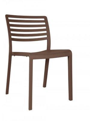 Lama Resol kunststof stoel kleur: chocolate