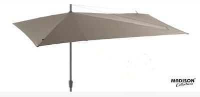Madison asymmetric rechthoekige parasol 2.2x3.6 meter, kleur: taupe