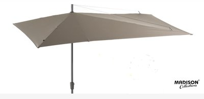 Madison asymmetric rechthoekige parasol 2.2x3.6 meter, kleur: ecru