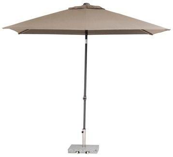 toledo rechthoekige parasol 250x200 cm, kleur taupe