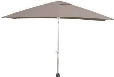 madera rechthoekige parasol 200x300 cm kleur taupe