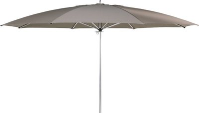 Ibiza ronde parasol 350 cm, kleur: taupe