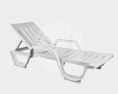 Kunststof ligbed Malibu in de kleur: wit