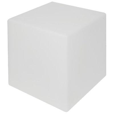 Shining Cube 33 cm wit