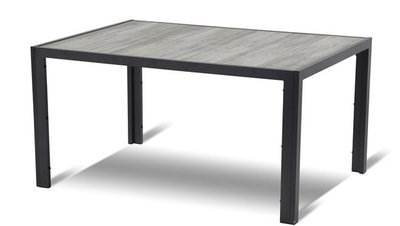 Tuintafel Bergamo 165x100 cm antraciet SHOWROOM model