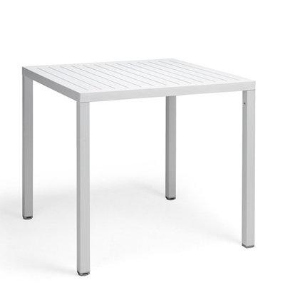 Nardi Cube 70 kunststof tuintafel vierkant 70 cm, kleur: wit