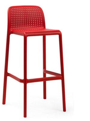 Nardi Lido mini kunststof barkruk, Rosso/rood