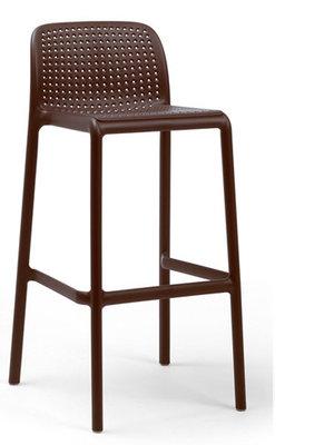 Nardi Lido mini kunststof barkruk, Caffe/donker bruin