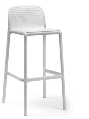 Nardi Lido mini kunststof barkruk, Bianco/wit